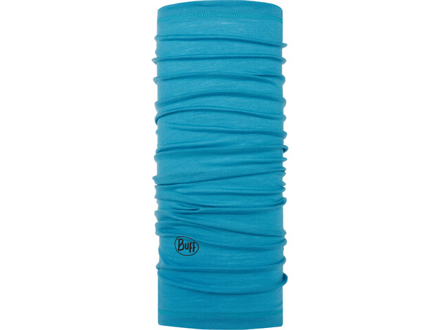 Buff Lightweight Merino Wool Neck Tube solid scuba blue
